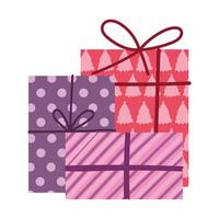 Frohe Weihnachten, Sammlung Geschenkboxen Dekoration isoliert Design