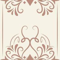 avdelare dekoration barock antik vintage design vektor