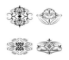 avdelare dekoration vintage elegant designelement ikoner vektor