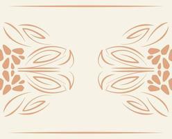 avdelare blomstra dekoration klassisk vintage ikon vektor