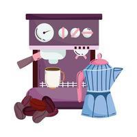 Kaffeezubereitungsmethoden, Espressomaschine und Samen