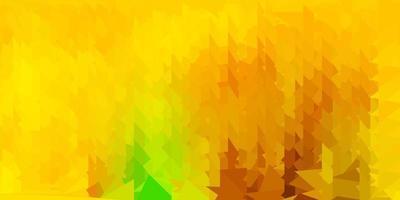 dunkelgrüner, gelber Vektordreieckmosaikhintergrund.