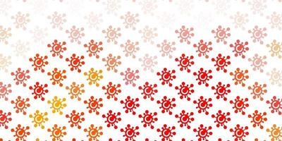 hellorange Vektor Textur mit Krankheitssymbolen.
