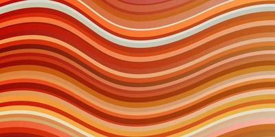ljus orange vektormall med linjer.