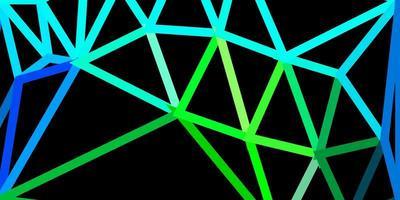 geometrisches polygonales Layout des hellblauen, grünen Vektors.