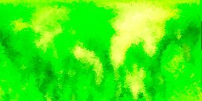 geometrisches polygonales Layout des hellgrünen, gelben Vektors.
