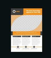 kreative Corporate Flyer Design-Vorlage vektor
