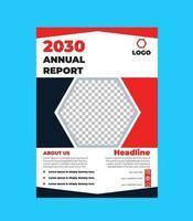 Design der Flyer-Vorlage für den Jahresbericht vektor