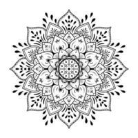svart mandala design på vit bakgrund vektor