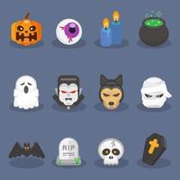 niedliches Halloween-Symbolsatz