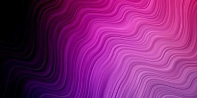 mörk lila, rosa vektor bakgrund med bågar.