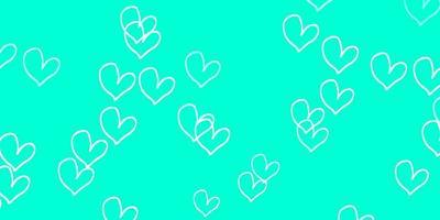 ljusgrön vektorstruktur med härliga hjärtan.