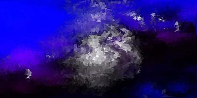 dunkelrosa, blaue Vektor-Poly-Dreieck-Textur.