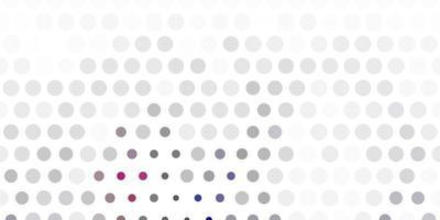 ljusgrå vektor mönster med sfärer.