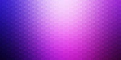 ljuslila, rosa vektormönster i fyrkantig stil.