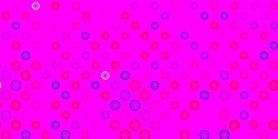 hellblauer, roter Vektorhintergrund mit Mysteriumsymbolen.