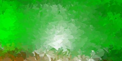 ljusgrön, röd vektor triangel mosaik design.