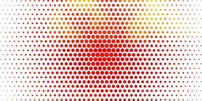 hellorange Vektor Hintergrund mit Kreisen