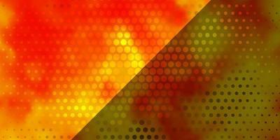 ljus orange vektor bakgrund med cirklar