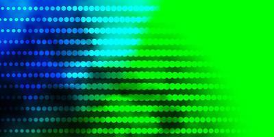dunkler mehrfarbiger Vektorhintergrund mit Kreisen.