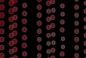 dunkelrote Vektorbeschaffenheit mit Religionssymbolen.