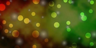 ljusgrön, gul vektorstruktur med cirklar, stjärnor.