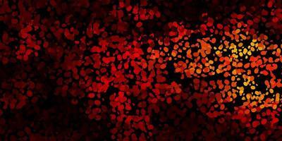 mörk röd, gul vektor bakgrund med kaotiska former.