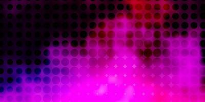 ljuslila, rosa vektorbakgrund med fläckar.