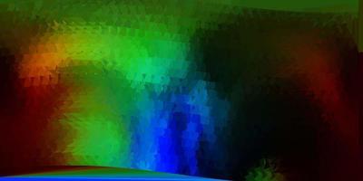 mörk flerfärgad vektor poly triangel mall.