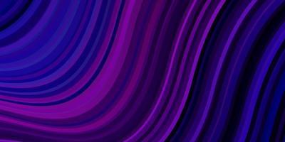 ljuslila, rosa vektorbakgrund med böjda linjer. vektor