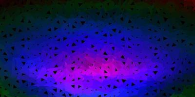 mörkt mångfärgat månghörnigt mönster.