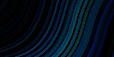 dunkelblauer, grüner Vektorhintergrund mit Kurven.