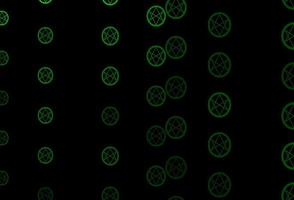 dunkelgrünes Vektormuster mit magischen Elementen.