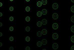 mörkgrönt vektormönster med magiska element.