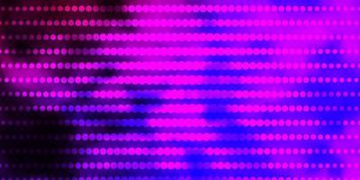 hellvioletter Vektorhintergrund mit Kreisen.
