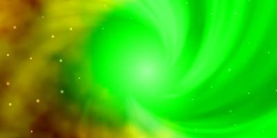 mörk flerfärgad vektormall med neonstjärnor.
