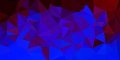 abstrakte Dreiecksschablone des dunklen blauen, roten Vektors.