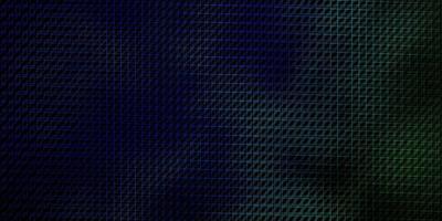 dunkelblauer, grüner Vektorhintergrund mit Linien.