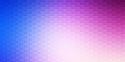 hellrosa, blauer Vektorhintergrund mit Rechtecken.
