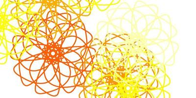 natürliches Layout des hellroten, gelben Vektors mit Blumen.