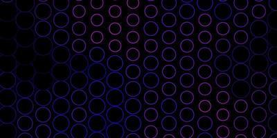 mörk lila, rosa vektor bakgrund med prickar.