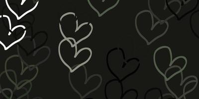 ljusgrå vektor mönster med färgglada hjärtan.