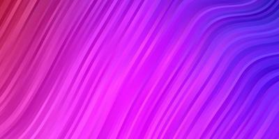 hellpurpurner, rosa Vektorhintergrund mit gebogenen Linien.