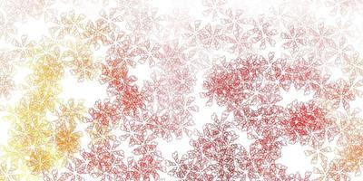 ljus orange vektor abstrakt bakgrund med blad.