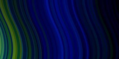 dunkelblauer, grüner Vektorhintergrund mit Bögen.