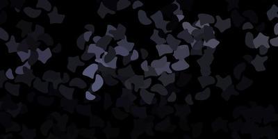 dunkelgraues Vektormuster mit abstrakten Formen.