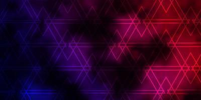 mörk lila, rosa vektor bakgrund med linjer, trianglar.