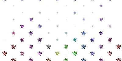 leichte mehrfarbige Vektorschablone mit Grippezeichen