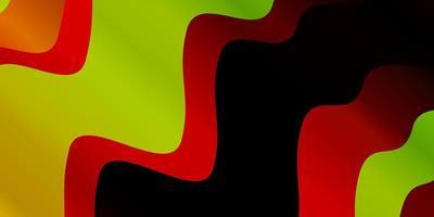 dunkles mehrfarbiges Vektorlayout mit Kreisbogen.