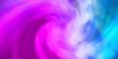 ljusrosa, blå vektorlayout med molnlandskap.